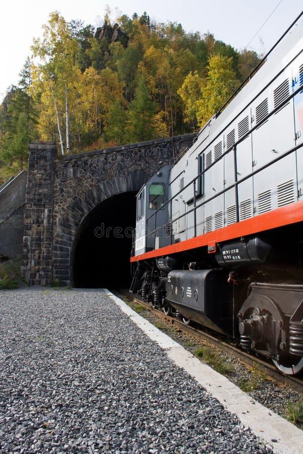 Ingang aan de tunnel stock fotografie