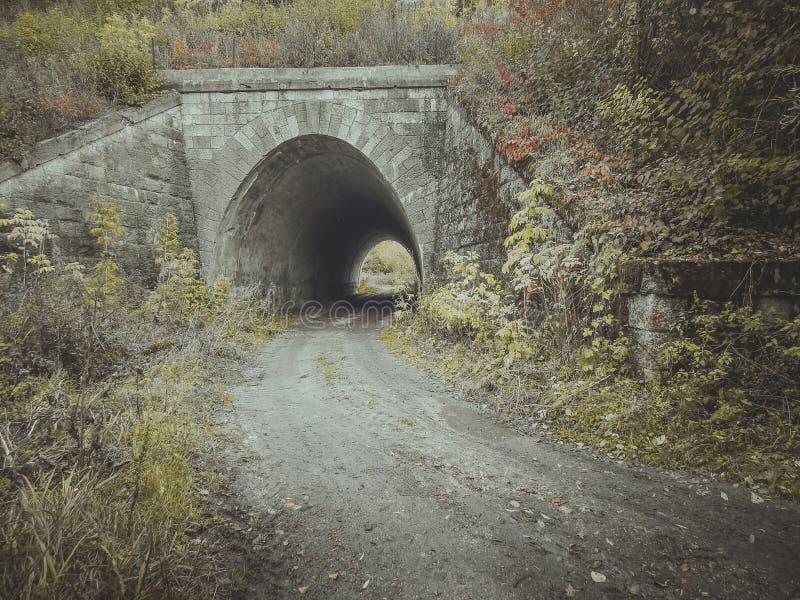 Ingang aan de tunnel Brug stock foto's