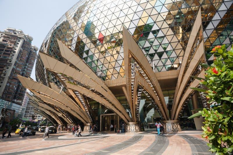 Ingang aan het Grote Casino van Lissabon in Macao royalty-vrije stock afbeelding