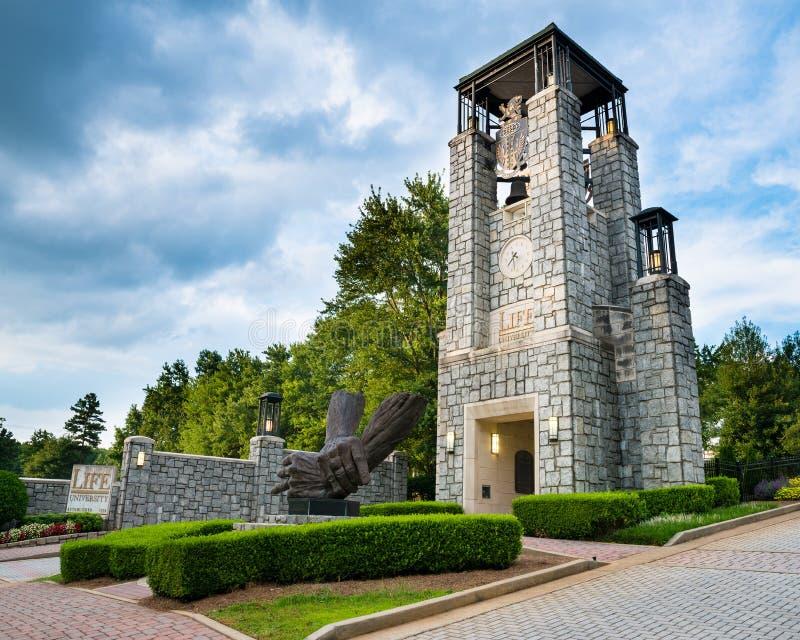 Ingang aan het Levensuniversiteit in Marietta, GA stock foto