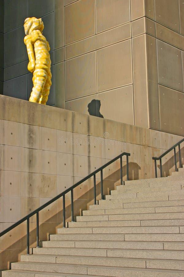 Ingang aan het Museum van Eigentijdse Kunst in Chicago, Illinois stock afbeelding