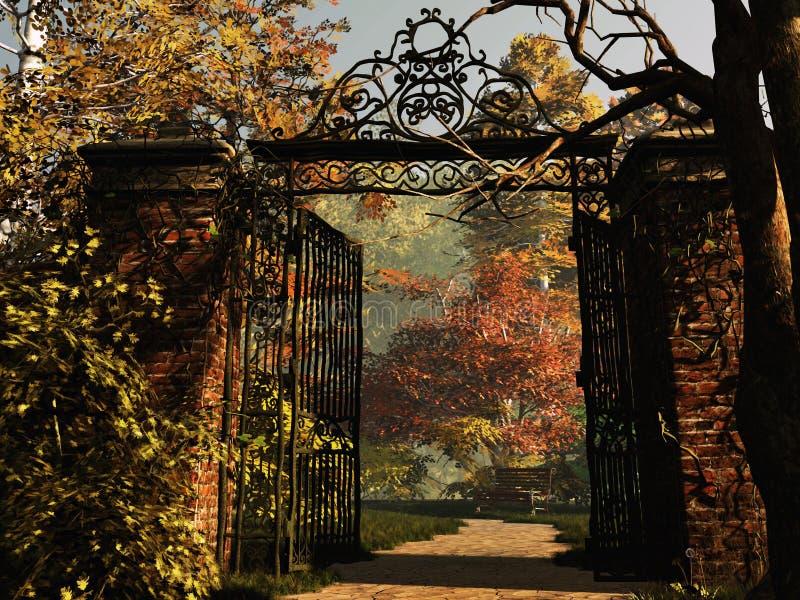 Ingang aan het Park royalty-vrije illustratie