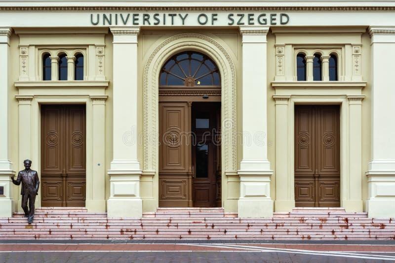 Ingang aan het universitaire gebouw stock fotografie