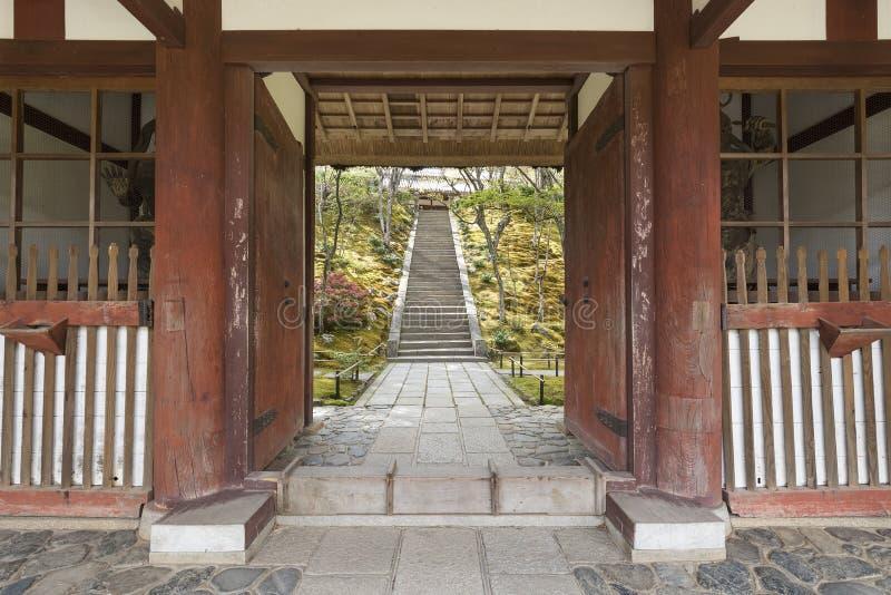 Ingang aan Japanse tuin royalty-vrije stock foto