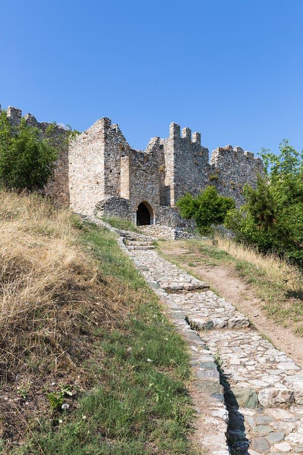 Ingang aan Kasteel van Platamon, Griekenland, Europa, royalty-vrije stock foto's