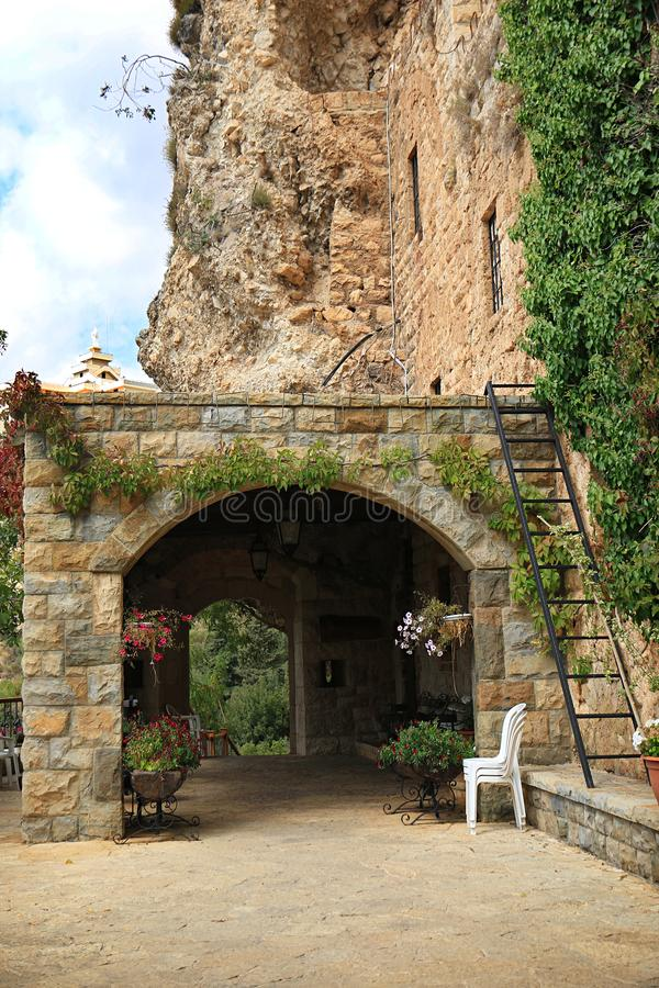 Ingang aan Khalil Gibran Museum, Libanon stock afbeeldingen