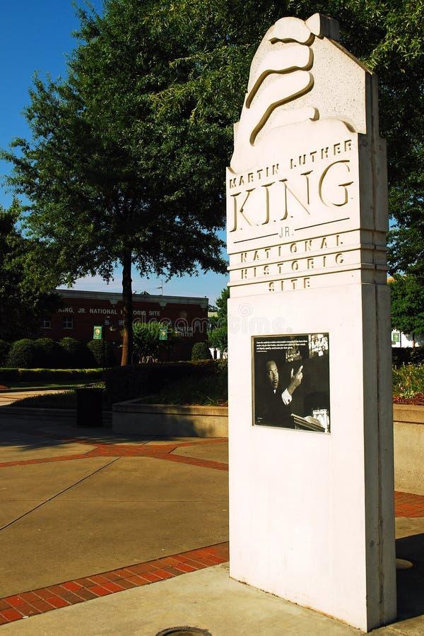 Ingang aan Martin Luther King National Historic Site, Atlanta royalty-vrije stock foto's