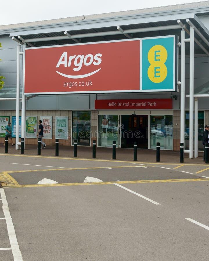 Ingang aan mobiele het netwerkopslag van Argos en van EE stock foto's
