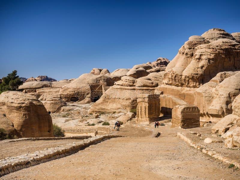 Ingang aan Petra door de kloof Siqh royalty-vrije stock afbeelding