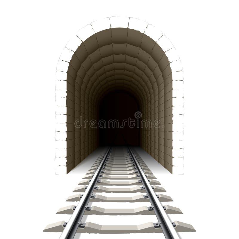 Ingang aan spoorwegtunnel royalty-vrije illustratie