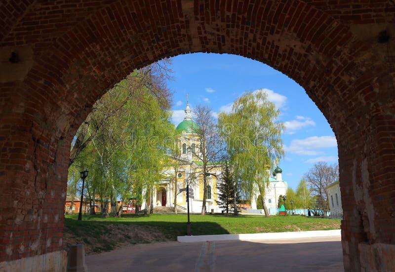 Ingang aan Zaraysk het Kremlin stock foto