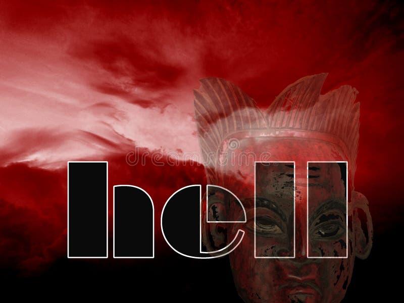 Ingang binnen aan de hel stock fotografie