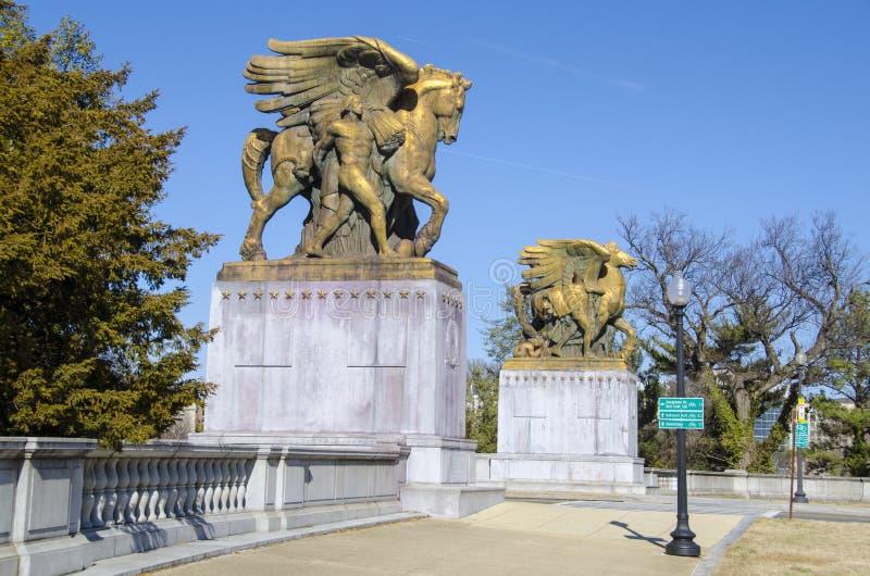 Ingang op de Herdenkingsbrug van Arlington royalty-vrije stock foto's