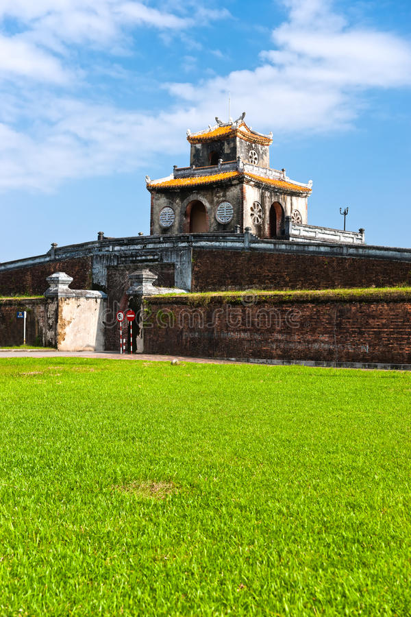 Ingang van Citadel, Tint, Vietnam. royalty-vrije stock foto