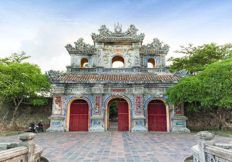 Ingang van Citadel, Tint, Vietnam. Unesco-de Plaats van de Werelderfenis. royalty-vrije stock fotografie
