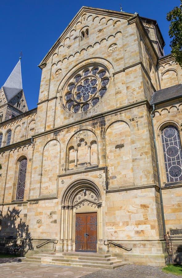 Ingang van de St Anna kerk in Neuenkirchen royalty-vrije stock afbeelding