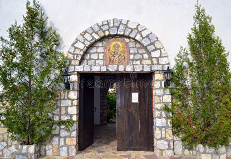 Ingang van een klooster royalty-vrije stock foto's