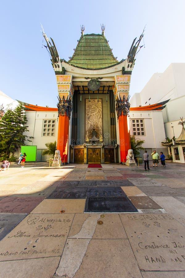 Ingang van het Chinese Theater van Grauman in Hollywood, Los Angeles royalty-vrije stock foto's