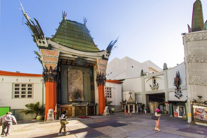 Ingang van het Chinese Theater van Grauman in Hollywood, Los Angeles royalty-vrije stock afbeelding