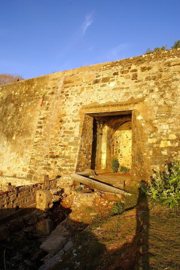 Ingang van het fort stock foto's