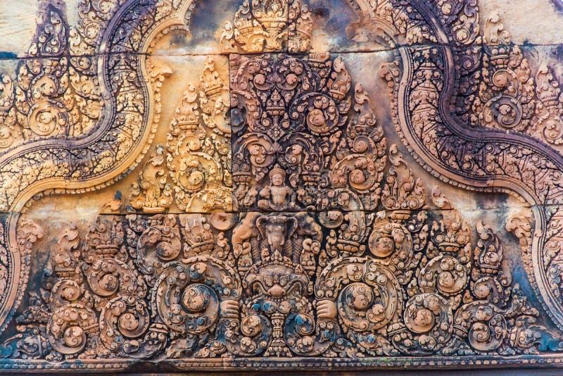 Ingang van het Kasteel van Banteay Srei royalty-vrije stock fotografie