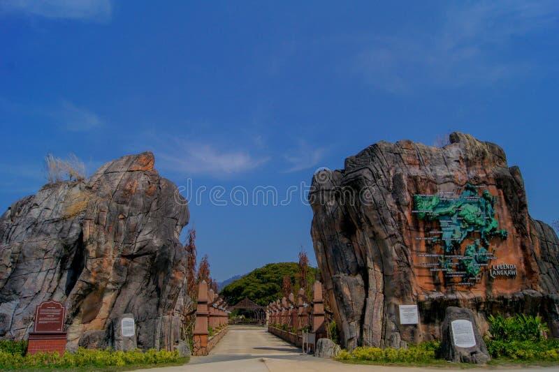 Ingang van legendepark Langkawi stock fotografie