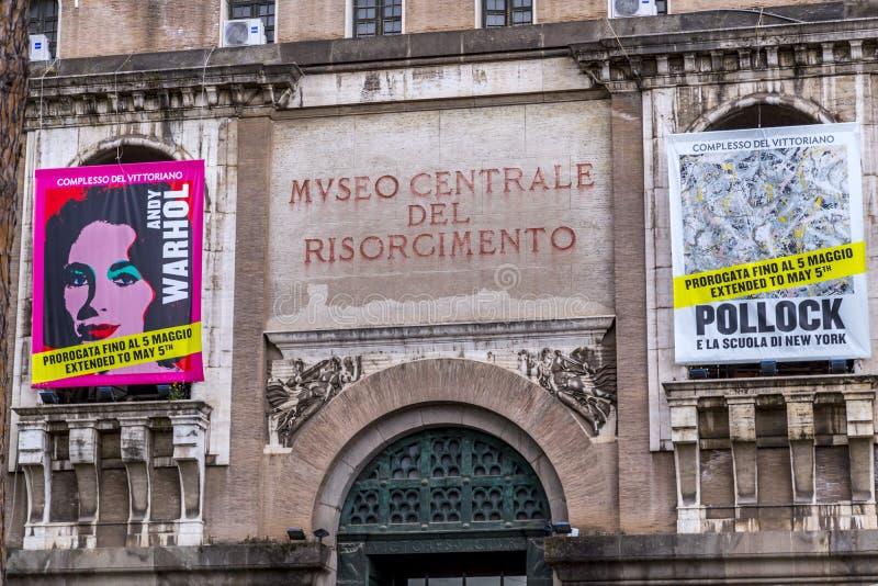 Ingang van Museum van Risorgimento royalty-vrije stock afbeelding