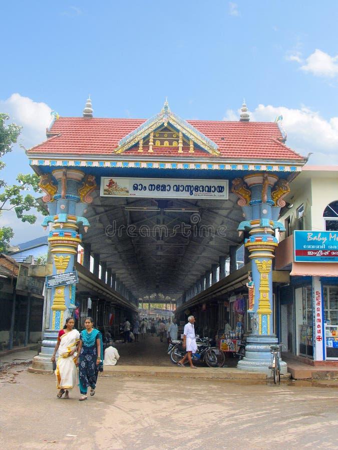 Ingang van Shri Krishna Temple, Ambalpuram royalty-vrije stock foto
