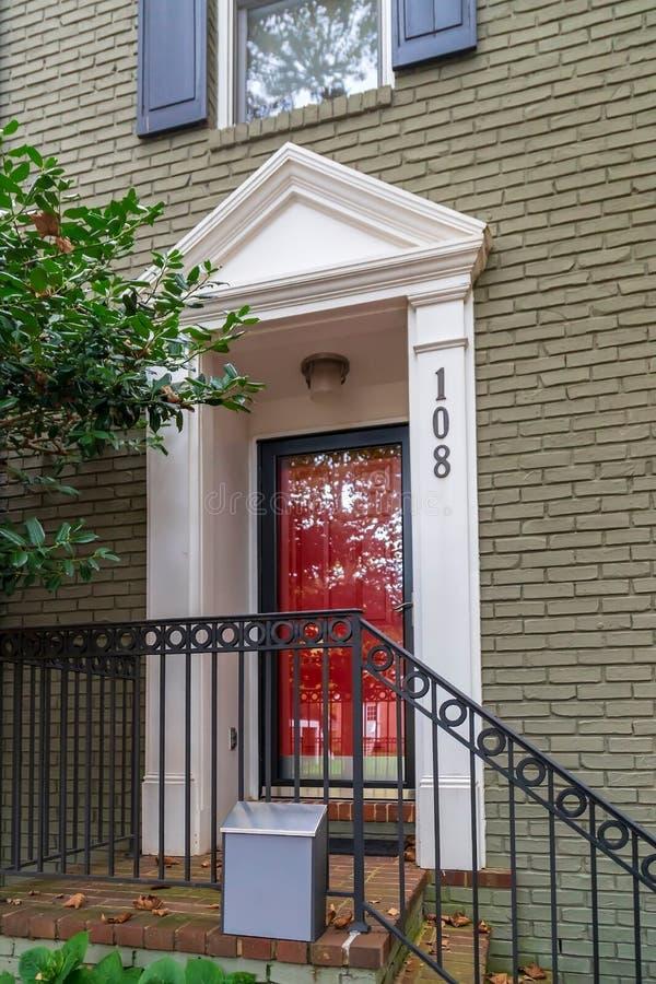 Ingang van typische Amerikaanse huizen stock foto