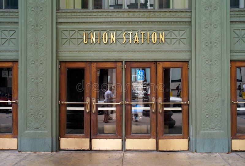 Ingang van Unie Post in Chicago royalty-vrije stock afbeelding