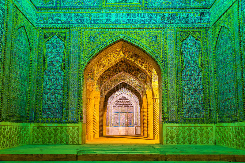 Ingang van Vakil-Moskee in Shiraz, Iran stock afbeelding