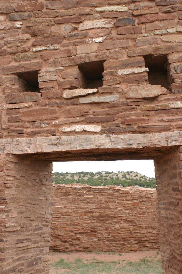Ingangsmanier, Abo Pueblo-ruïnes, New Mexico stock afbeelding
