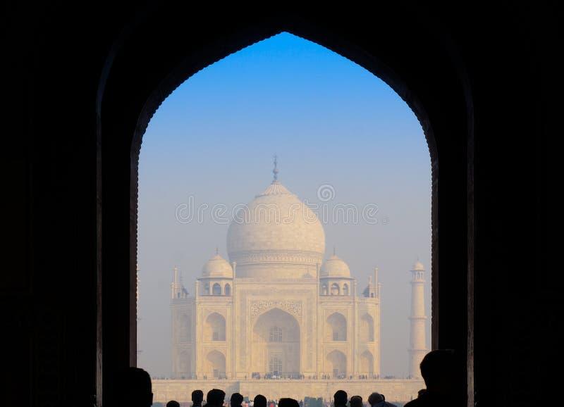 Ingangspoort aan Taj Mahal royalty-vrije stock afbeeldingen