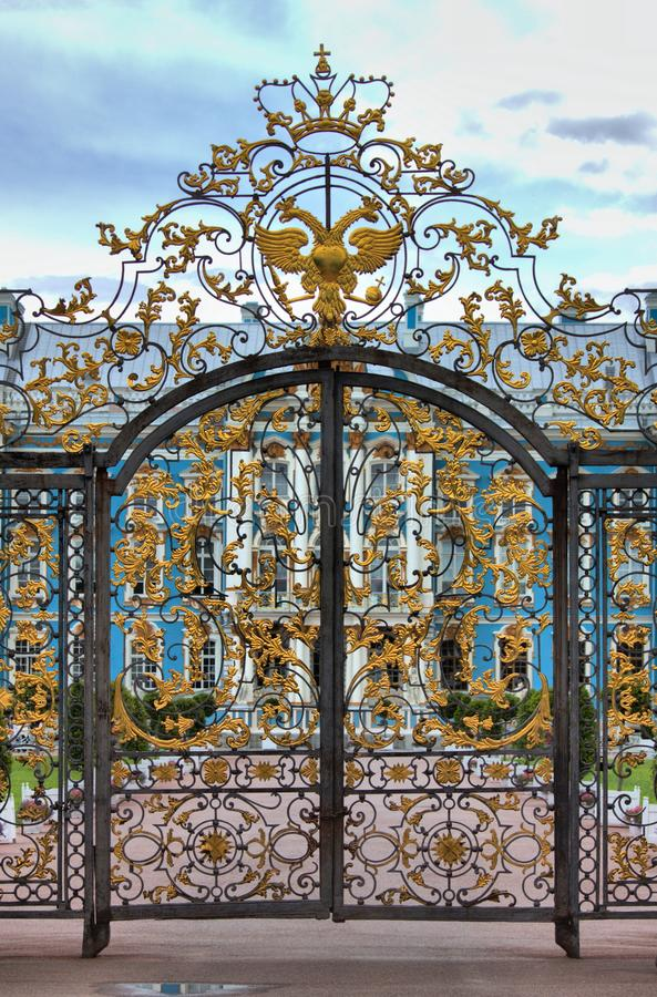 Ingangspoort van Catherine Palace in St. Petersburg royalty-vrije stock fotografie