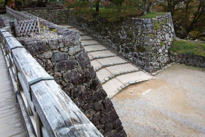 Ingangspoort van Hikone-kasteel stock foto's