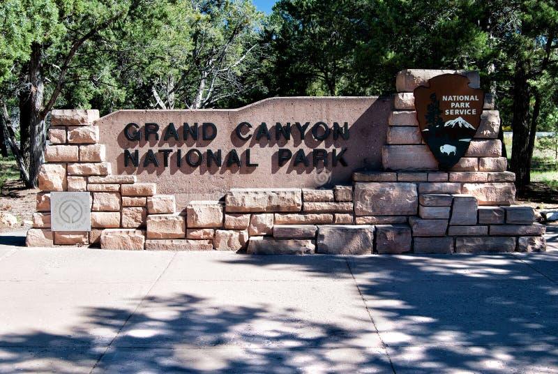 Ingangsteken Grand Canyon NP stock foto