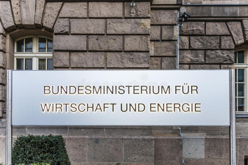 Ingangsteken van het federale ministerie van econimics en energie stock foto's