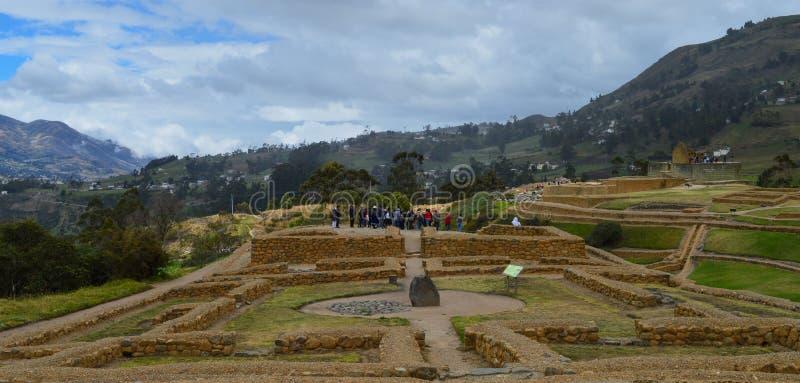 Ingapirca,考古学复合体,游人,风景 免版税库存照片
