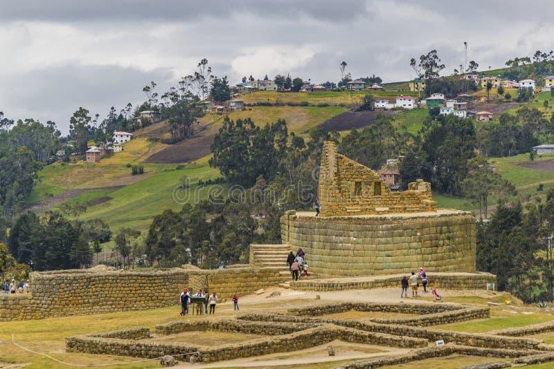 Ingapirca Inca Ruins dans Azuay Equateur image stock