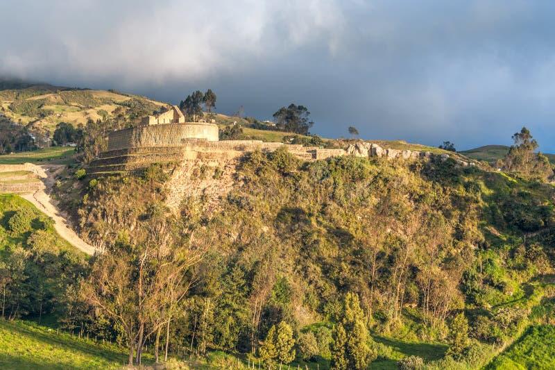 Ingapirca, les ruines d'Inca les plus les plus larges en Equateur photo libre de droits