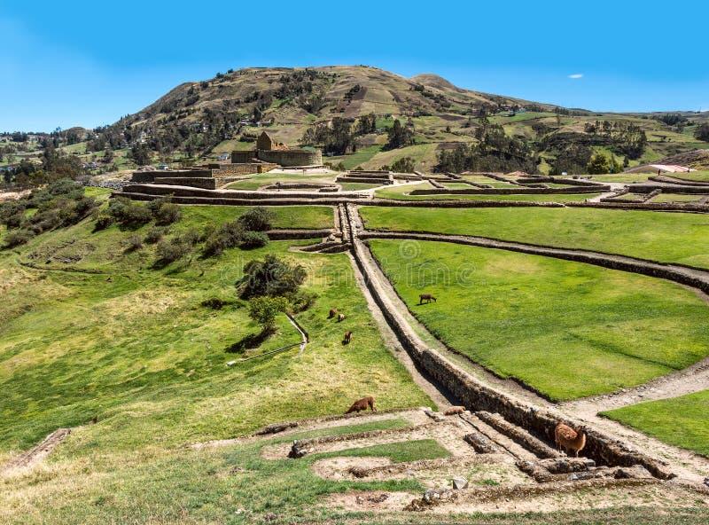 Ingapirca, les ruines d'Inca les plus les plus larges en Equateur photographie stock