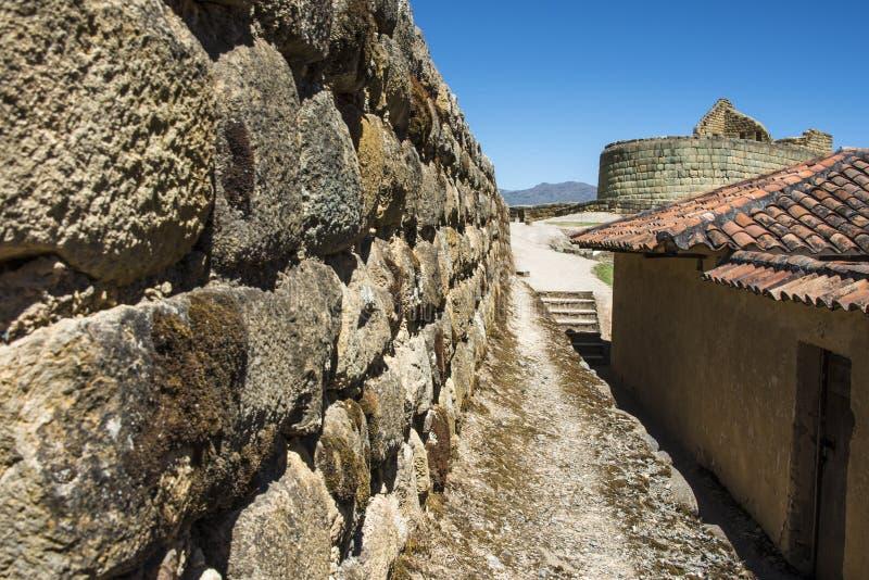 Ingapirca, mur d'Inca en Equateur image libre de droits