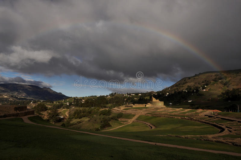 Ingapirca, ville ruinée d'Inca, Equateur images stock