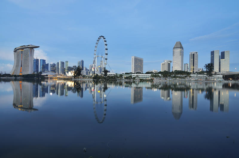 Download Ingapore Marina bay stock image. Image of light, morning - 21751891