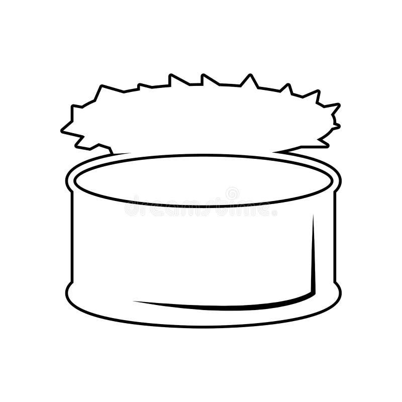 ingeblikt goederenpictogram Element van het eten voor mobiel concept en webtoepassingenpictogram Overzicht, dun lijnpictogram voo stock illustratie