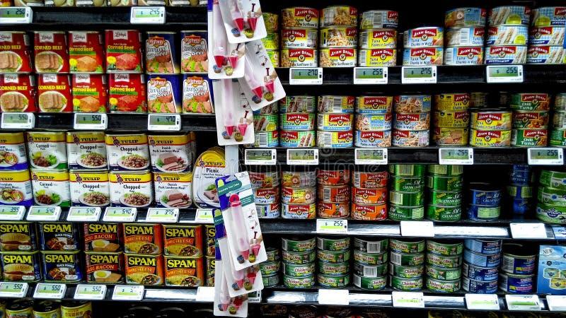Ingeblikt voedsel stock afbeeldingen