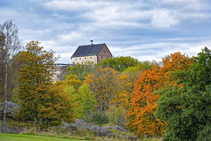 Ingebouwd Kastelholmkasteel 14de eeuw, Aland-eilanden royalty-vrije stock afbeeldingen
