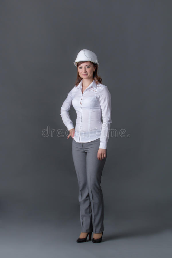 Ingegnere in casco fotografia stock