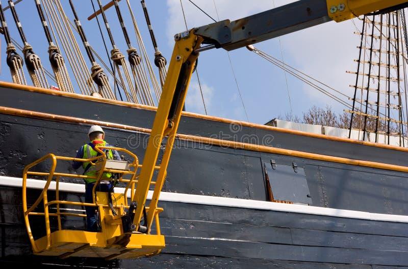 Ingegnere della barca fotografia stock