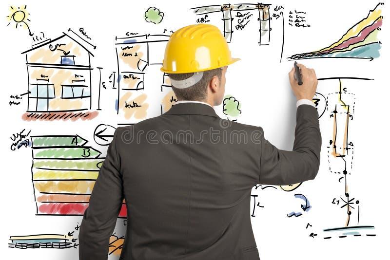 Ingegnere di costruzione fotografia stock